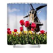 Windmill Island Tulip Gardens Shower Curtain