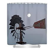 Windmill Moon Shower Curtain