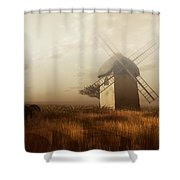 Windmill On A Slightly Misty Day Shower Curtain