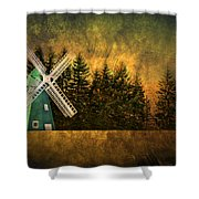Windmill On My Mind Shower Curtain