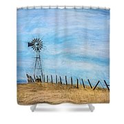 Windmill On The Hill Shower Curtain