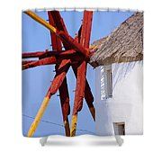 Windmill Strength Shower Curtain