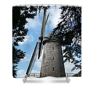 Windmill Through The Trees Shower Curtain