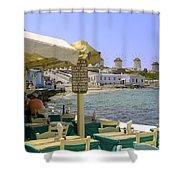 Windmill View Shower Curtain
