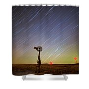 Windmills And Stars Shower Curtain