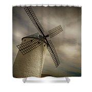 Windmills At Campo De Criptana Shower Curtain