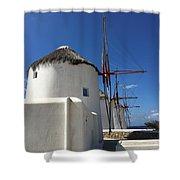 Windmills Shower Curtain