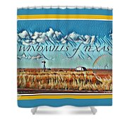 Windmills Of Texas Shower Curtain