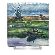 Windmills Shower Curtain