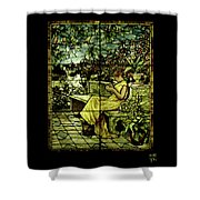 Window - Lady In Garden Shower Curtain