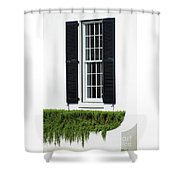 Window And Black Shutters Shower Curtain