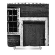 Window And Door Bw Shower Curtain