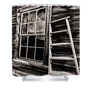 Window And Ladder Shower Curtain