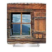 Window And Reflection Shower Curtain