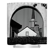 Window Arch Shower Curtain by CML Brown