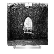 Window At Fuerty Church Roscommon Ireland Shower Curtain by Teresa Mucha