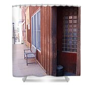Window Bench Seat Color Neutral Shower Curtain