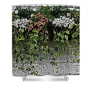 Window Box Flowers Shower Curtain