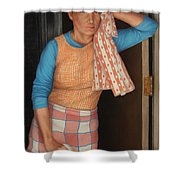 Window Cleaner Shower Curtain by James W Johnson