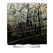 Window Drawing 02 Shower Curtain by Grebo Gray