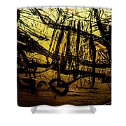 Window Drawing 06 Shower Curtain by Grebo Gray