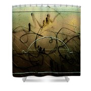 Window Drawing 07 Shower Curtain by Grebo Gray