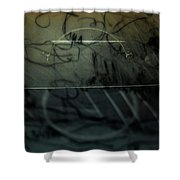Window Drawing 08 Shower Curtain by Grebo Gray