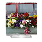 Window Flowers Shower Curtain
