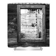 Window Frame Shower Curtain