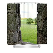 Window From The Past And Into The Future Shower Curtain