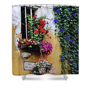 Window Garden In Arles France Shower Curtain