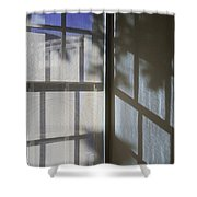 Window Lines Shower Curtain