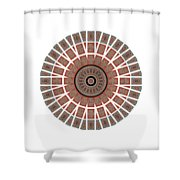Window Mosaic - Mandala - Transparent Shower Curtain