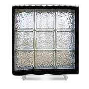 Window Of Glass Shower Curtain