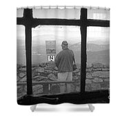 Window On White Mountain Shower Curtain