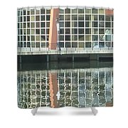 Window Reflection Shower Curtain by Don Perino