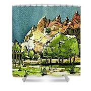 Window Rock Arizona Shower Curtain