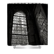 Window To Mont St Michel Shower Curtain by Dave Bowman