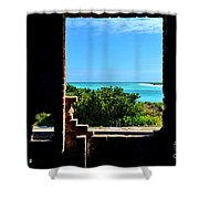 Window To Paradise Shower Curtain