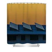 window to Solar power Shower Curtain