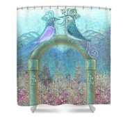 Window To Spring 4 Shower Curtain