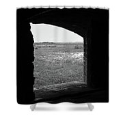 Window To The Battle Field Shower Curtain