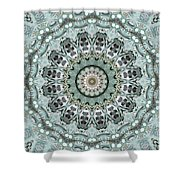 Window To The World Mandala Shower Curtain