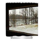 Window To Winter Shower Curtain