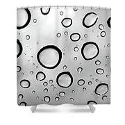 Window Waterdrops B Shower Curtain
