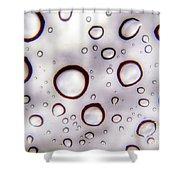 Window Waterdrops Shower Curtain