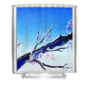 Window With The Mountain View Shower Curtain