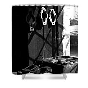 Window Workbench Shower Curtain
