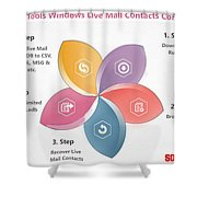 Windows Live Mail Contacts Converter Shower Curtain