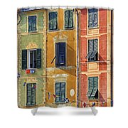 Windows Of Portofino Shower Curtain